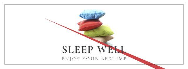 Modèle de visuel Home Textiles Ad with Colorful Pillows - Facebook cover