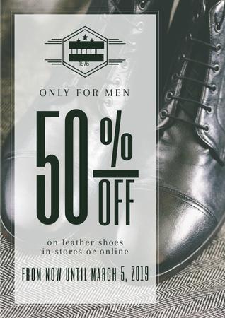 Shoes sale advertisement Poster Tasarım Şablonu