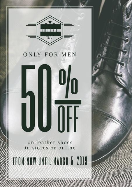 Plantilla de diseño de Shoes sale advertisement Poster