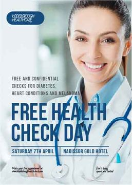 Free health check day poster
