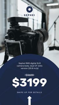 Photography equipment in studio