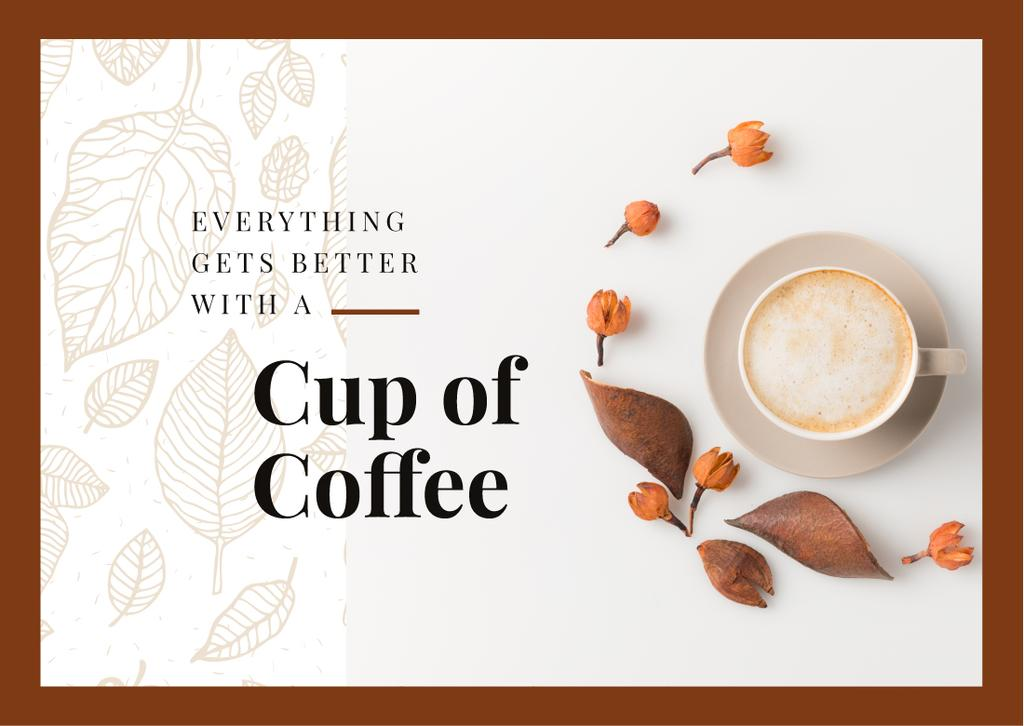 Cup of coffee with milk — Modelo de projeto