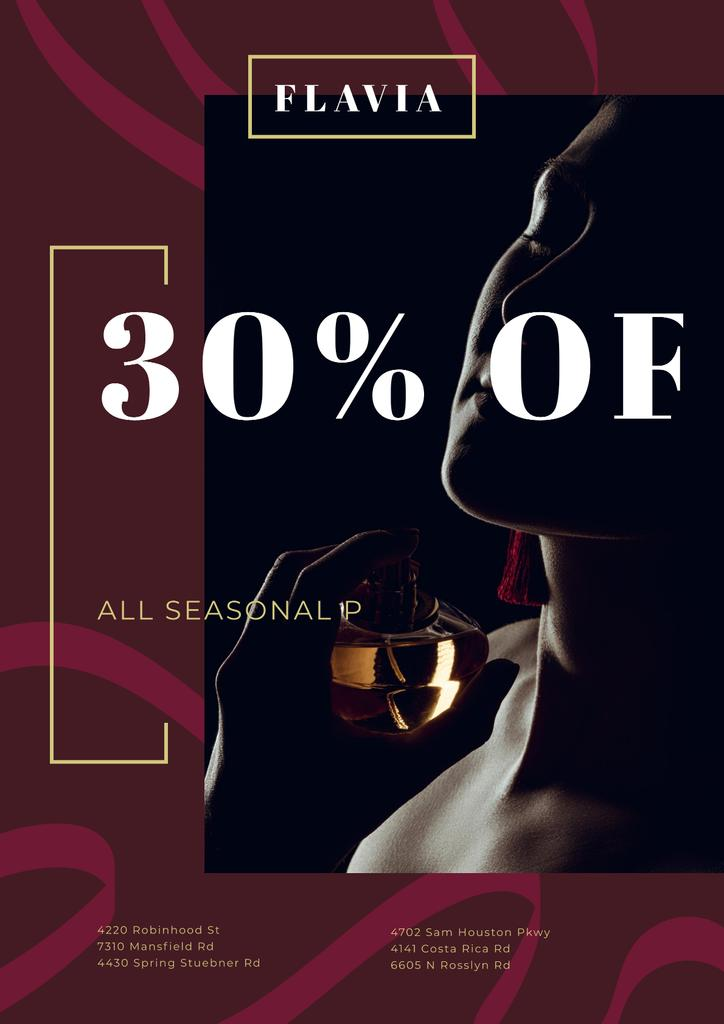 Perfumes Sale with Woman Applying Perfume — Crea un design