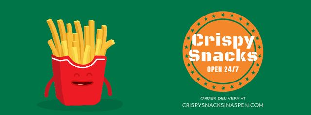 Template di design Fast Food Menu Cheerful French Fries Facebook Video cover