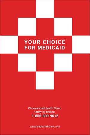 Medicaid clinic Ad in Red Pinterest Modelo de Design