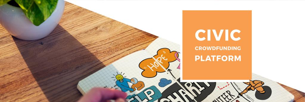 Writing in Notebook with Charity Ideas | Twitter Header Template — Crear un diseño