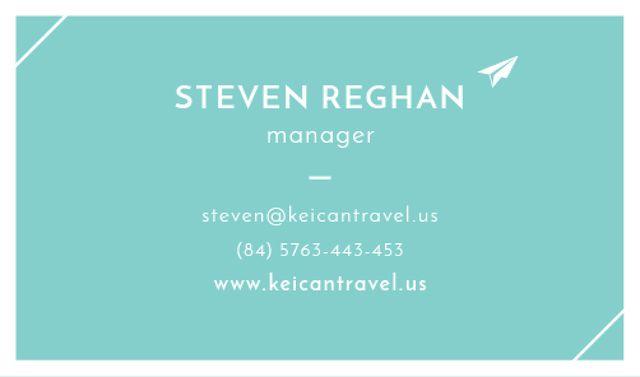 Modèle de visuel Manager Services Offer - Business card