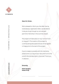 Business Company Internship official response