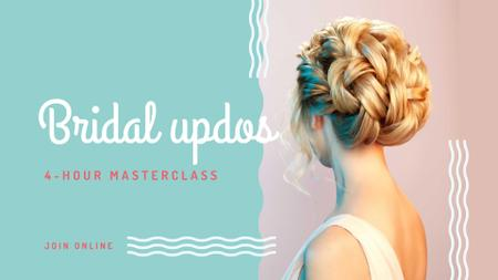Wedding Hairstyles Offer with Bride with Braided Hair FB event cover Modelo de Design
