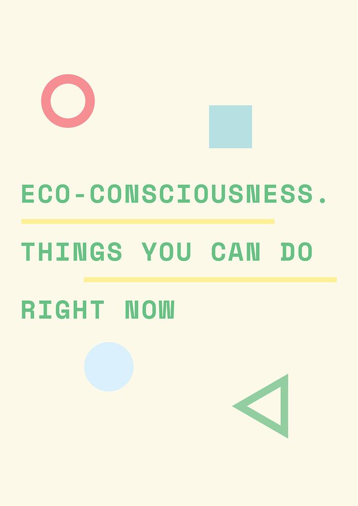 Eco-consciousness concept — ein Design erstellen
