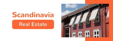 Modèle de visuel Real Estate ad with Scandinavian Houses - Facebook cover