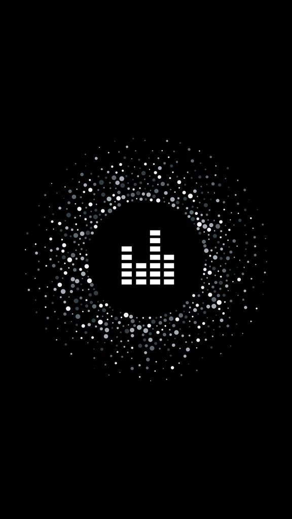 Music and Recording icons on black — Створити дизайн