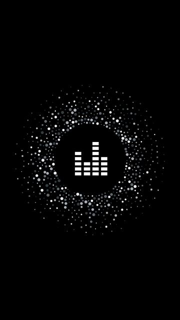 Modèle de visuel Music and Recording icons on black - Instagram Highlight Cover