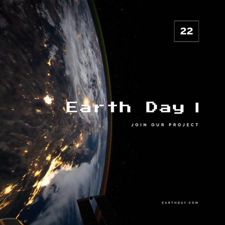 Plantilla de diseño de Earth view from Space Animated Post