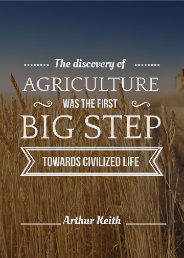 agricultural quote with field of wheat — Створити дизайн