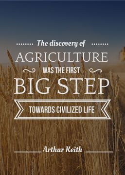 agricultural quote with field of wheat