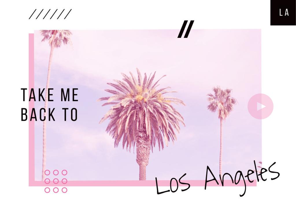 Los Angeles city palms —デザインを作成する