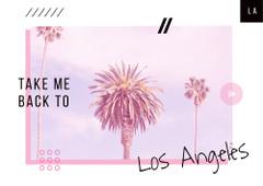 Los Angeles city palms
