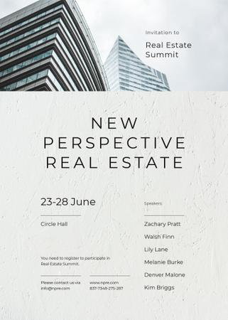 Plantilla de diseño de Real Estate ad Modern glass Building Invitation
