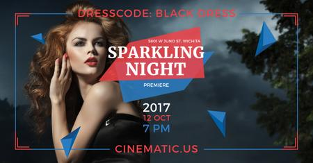 Sparkling night party Annoucement Facebook AD – шаблон для дизайна