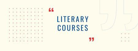Ontwerpsjabloon van Facebook cover van Educational Courses ad on abstract Pattern