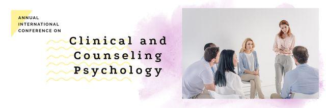 Patients visiting psychotherapist Twitter – шаблон для дизайна