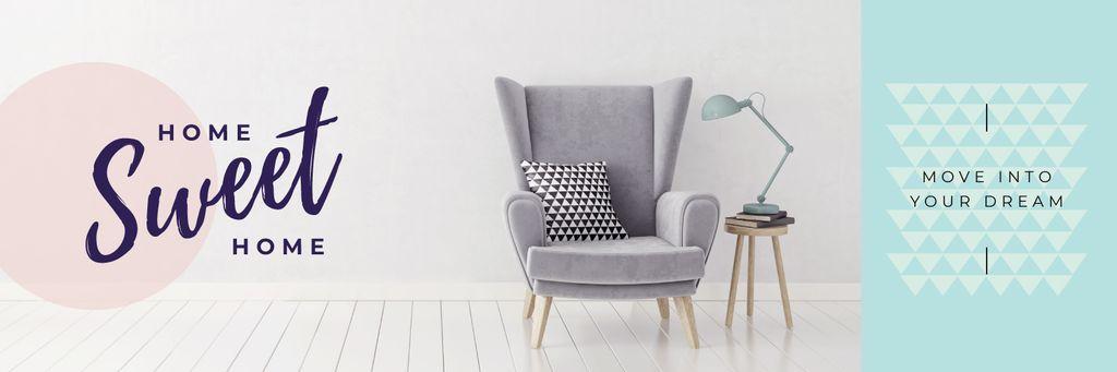 Cozy interior in grey color — Create a Design
