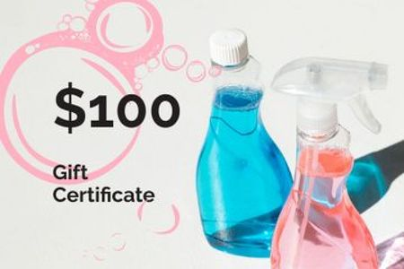 Plantilla de diseño de Cleaning Services offer with Detergents Gift Certificate