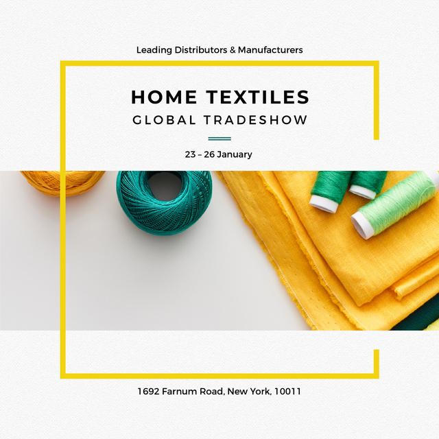 Plantilla de diseño de Home Textiles Global Tradeshow Instagram