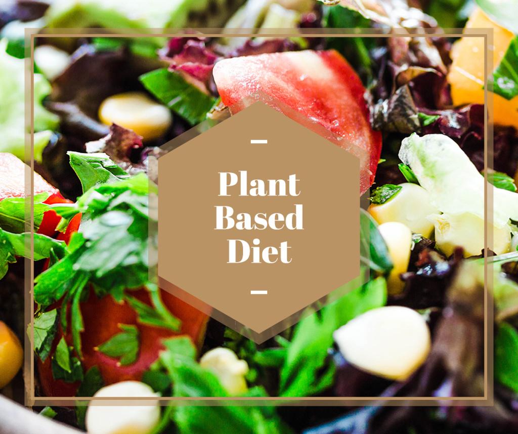 Plant based diet Vegetable salad — Maak een ontwerp