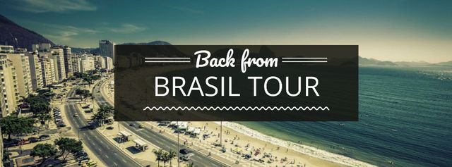 Traveling tour advertisement Facebook cover Design Template