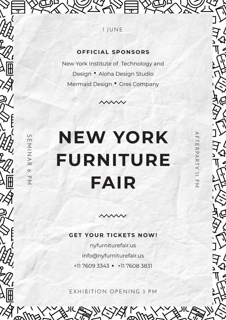 Ne York furniture fair — Modelo de projeto