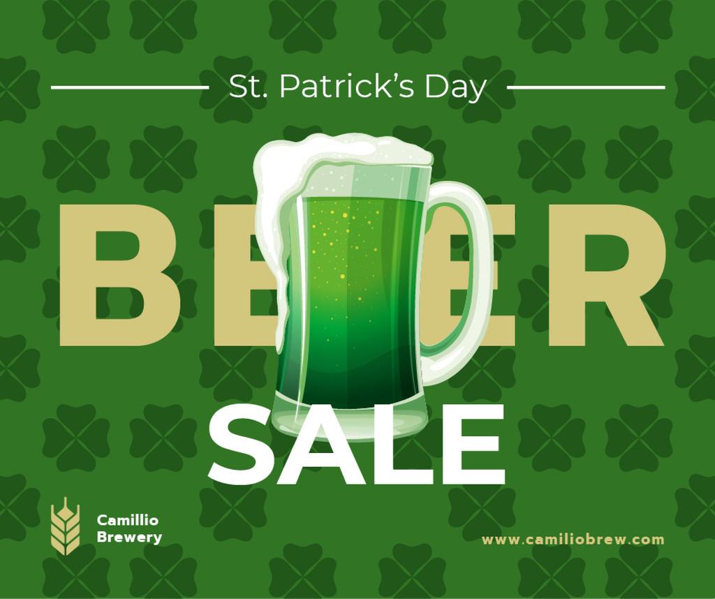 Saint Patrick's Day mug with beer — Crea un design