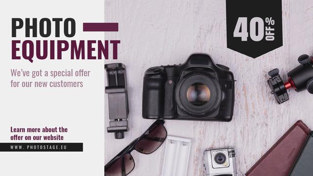 Dslr Camera and Photo Equipment Offer Full HD video – шаблон для дизайна