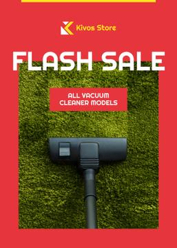 Flash Sale Vacuum Cleaner on Carpet | Flyer Template
