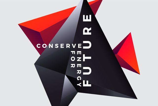 Szablon projektu Concept of Conserve energy for future Gift Certificate