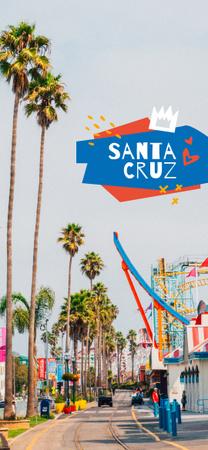 Palms on Santa Cruz street Snapchat Geofilter – шаблон для дизайну