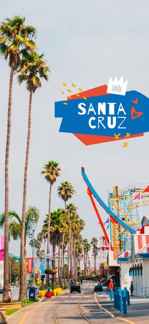 Plantilla de diseño de Palms on Santa Cruz street Snapchat Geofilter