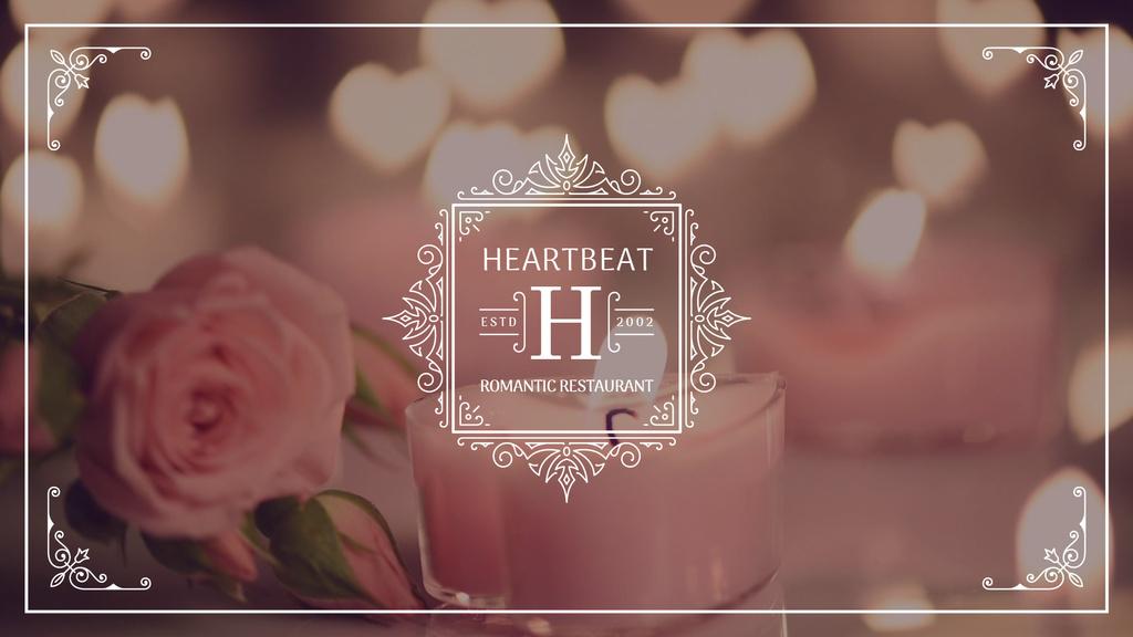 Rose flower by burning candles — Maak een ontwerp