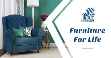 Furniture Ad with Cozy Lounge