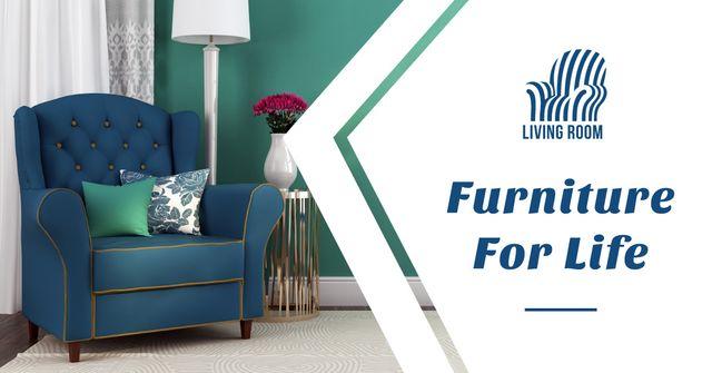 Furniture Ad with Cozy Lounge Facebook AD – шаблон для дизайну