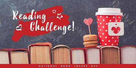 Szablon projektu national book lovers day poster Image
