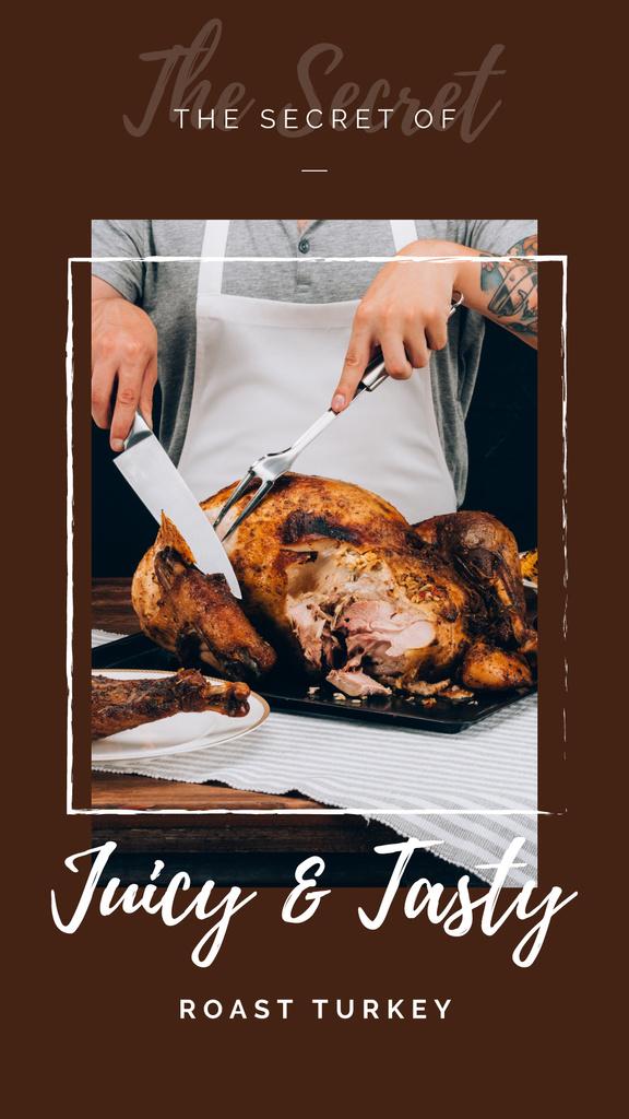 Chef cutting roasted turkey — Створити дизайн