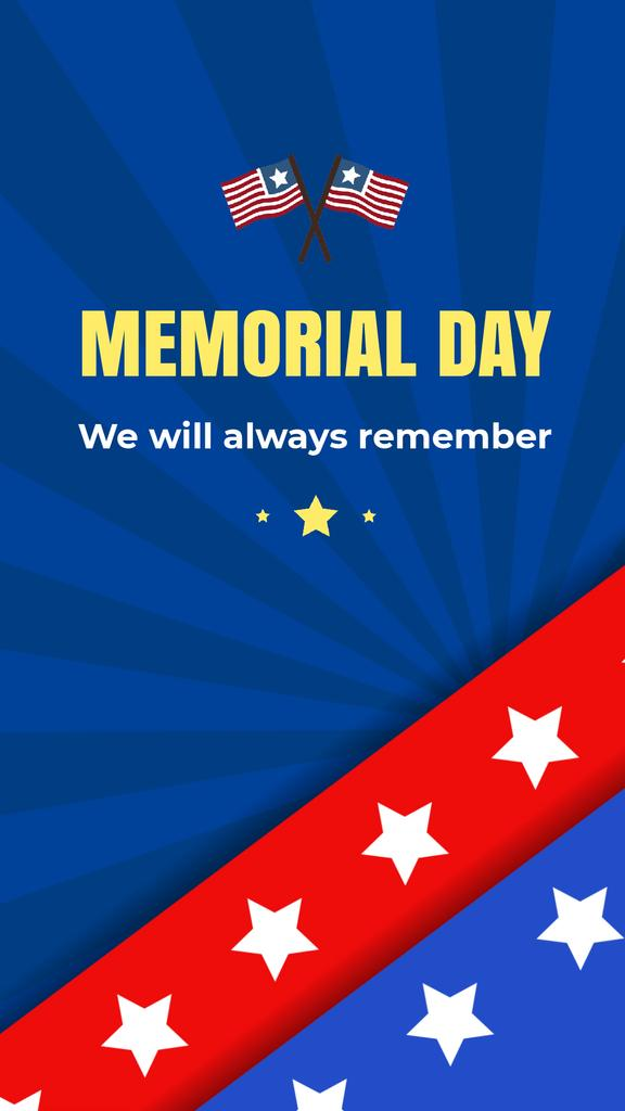 USA Memorial Day greeting with Flag — Créer un visuel