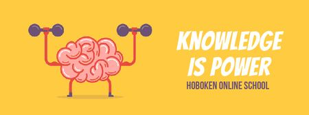 Brain training with dumbbells Facebook Video cover Modelo de Design