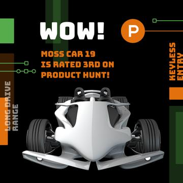 Product Hunt Launch Ad Sports Car | Instagram Post Template