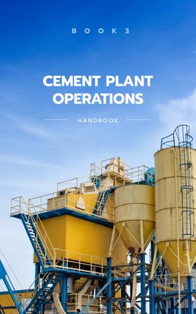 Cement Plant Large Industrial Containers Book Cover Tasarım Şablonu