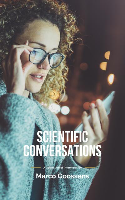 Plantilla de diseño de Woman in Glasses Using Smartphone Book Cover