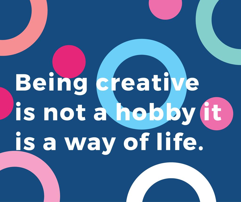 Creativity Quote on Colorful circles pattern Facebook – шаблон для дизайна