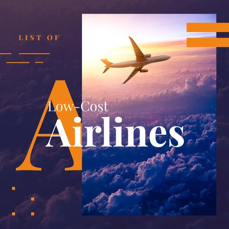 Plantilla de diseño de Plane flying in the sky Instagram